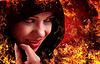 ID 3903952 | Frau Hexe auf Feuer, Halloween | Foto mit hoher Auflösung | CLIPARTO