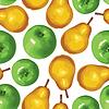 Birne und Apfel nahtlose Muster