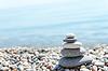 Stapel von Zen Steine am Strand | Stock Foto