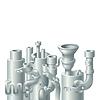 Векторный клипарт: Промышленные металлической трубы стека дизайн, тема