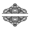 검은 색과 흰색 꽃 패턴 | Stock Vector Graphics