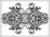 Серые декоративные цветочные украшения | Векторный клипарт
