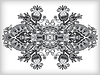 Grey ornamental floral adornment | Stock Vector Graphics