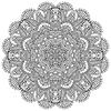 Kreis Spitzen schwarz und weiß Ornament