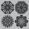 Kreis grau Spitze Ornament, ornamentale runden | Stock Vektrografik
