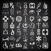 49 hand drawing doodle icon set, medical theme on | Stock Vector Graphics