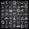 49 hand drawing doodle icon set, travel theme on | Stock Vector Graphics
