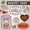 Sammlung von Vintage-Retro-Bäckerei-Label-Design