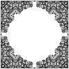 Черно-белый цветочный узор | Векторный клипарт