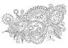 original hand draw line art kunstvollen Blumen-Design.