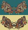 Шея декоративных цветочных Пейсли моды вышивка | Векторный клипарт