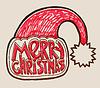 Nikolausmütze mit Schriftzug merry christmas, decoratio