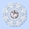 Weihnachten Schneeflocke Dekoration mit Diamanten Juwel | Stock Vektrografik