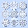 Kreis Spitze Ornament, rund ornamentalen geometrischen | Stock Vektrografik
