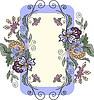 Vertical floral frame | 向量插图