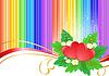 ID 3785658 | Zwei Herzen auf Regenbogen Hintergrund | Stock Vektorgrafik | CLIPARTO