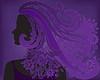 Mädchen mit lila Haaren Blume