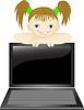 ID 3921477 | Dziewczyna z komputera przenośnego | Klipart wektorowy | KLIPARTO