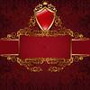Königliche Symbole auf rot