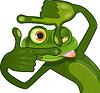 kreative Frosch