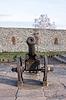 바퀴에 고대의 대포. Dubno. 우크라이나 | Stock Foto