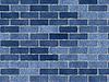 Синяя кирпичная стена | Фото