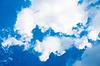 Błękitne niebo z białej chmury | Stock Foto
