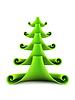 3 차원 기호 새해`의 전나무 트리 | Stock Illustration