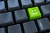 Keyboard with smile button | Stock Illustration