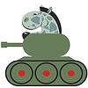 Cartoon Pferd in Tank 011