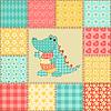 Krokodil Patchwork-Muster