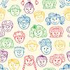 Seamles Kinder Gesichter Muster