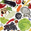 nahtlose Hintergrund Herbst Gemüse