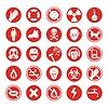 Arbeitsschutzkabinen verschiedene Symbole