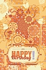 꽃 생일 인사말 카드 | Stock Vector Graphics
