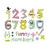 Lustige Zahlen Set | Stock Vektrografik