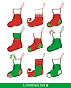 Christmas Stocking zestaw | Stock Vector Graphics