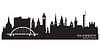 Glasgow Schottland Skyline Stadtsilhouette