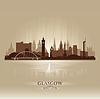 Glasgow Schottland Skyline Stadtsilhouette | Stock Vektrografik