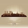 York England Skyline Silhouette | Stock Vektrografik