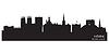 York England Skyline Detaillierte silhouette | Stock Vektrografik