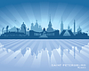Vector clipart: Saint Petersburg Russia city skyline silhouette