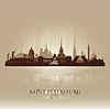 Sankt Petersburg Russland Skyline Silhouette