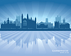 Cambridge England Skyline Silhouette | Stock Vektrografik