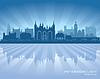 Peterborough England Skyline Silhouette   Stock Vektrografik