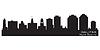 Halifax Kanada Skyline. Detaillierte Silhouette