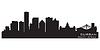 Durban Südafrika Skyline Detaillierte Silhouette | Stock Vektrografik