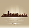 Durban South Africa city skyline silhouette | Stock Vector Graphics