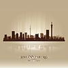 Johannesburg Südafrika Skyline Silhouette | Stock Vektrografik