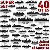 Incredible US panoramę miasta set | Stock Vector Graphics